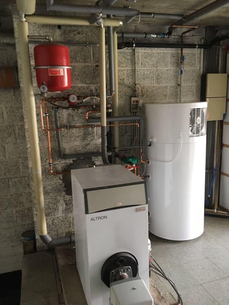 Warmtepomp installatie te Binkom